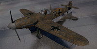 3d messerschmitt fighter aircraft