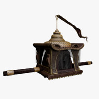 palanquin carriage obj