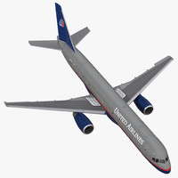 3d model of boeing 757-200f united airlines