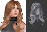 mesh hair 3d obj