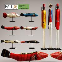 3d figurines mixfurniture model