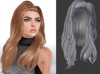mesh hair obj