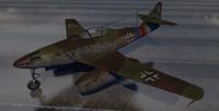 3d model messerschmitt jet fighter