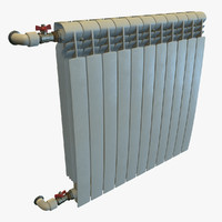 real-time ready radiator pbr 3d model