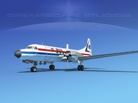 3d model of propellers convair cv-580