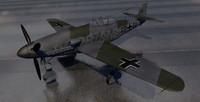 3d model of messerschmitt me-309 fighter aircraft