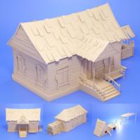 3d model farm houses