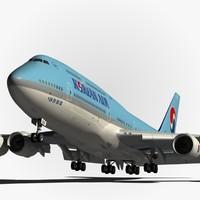 boeing 747-8 korean air obj