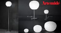 3d max meteorite lamp artemide floor