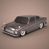 3d model hot rod antique car