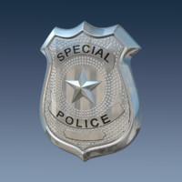 badge police 3d model