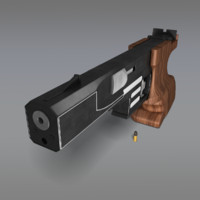 shooting rapid pistol 3d max