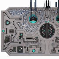 3d model sci-fi gates