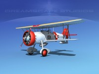 3d curtiss fighter goshawk