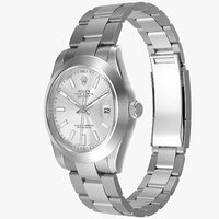 realistic rolex datejust ii 3d model
