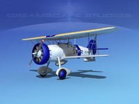 3d curtiss fighter goshawk model