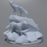 Low Poly Wolves