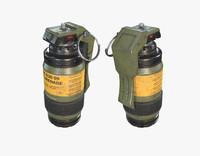 sci fi grenade 3d model