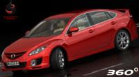 mazda 6 2012 3d model