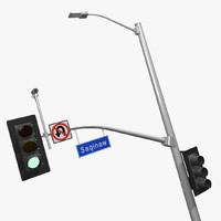 3d california traffic signal