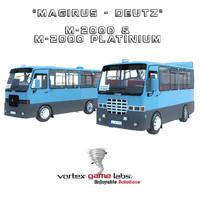 3d model magirus minibus platinium