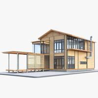 modern house 1 interior 3d model