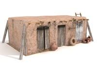 3d desert house model