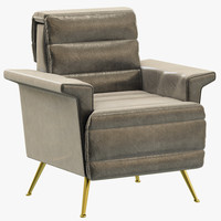 3d model essential home bardot armchair