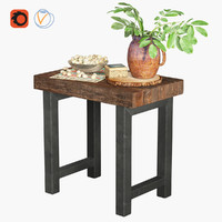 GRIFFIN RECLAIMED WOOD SIDE TABLE