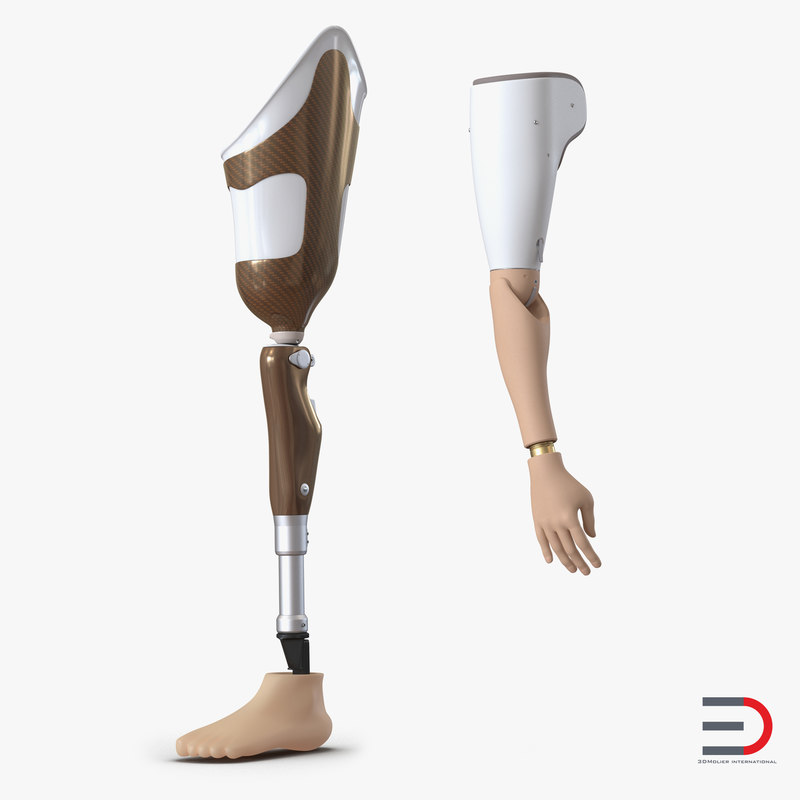 Prosthetic Leg and Arm Collection 3d models 00.jpg