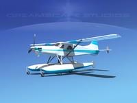 3d dehavilland beaver turboprop model