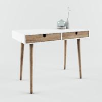 3d model desk white