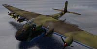messerschmitt me-323d-6 gigant transport 3d model
