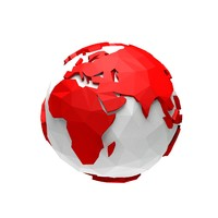 3d model of cartoon earth