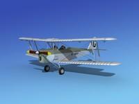 3d model tiger moth