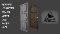 2 wooden door 3ds