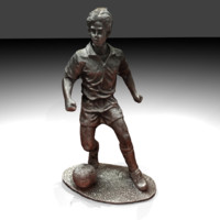 statue soccer 3d blend