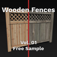wood fences pack vol c4d free