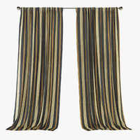 3d cornice curtains model