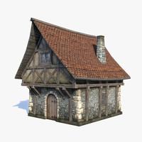 medieval fantasy house 3d model
