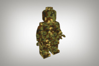 3d lego minifigure - camouflage model