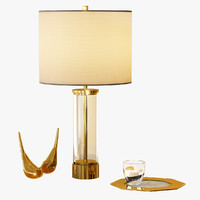 acrylic column table lamp max