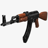 3d russian rifle ak47 gun