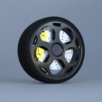 cars wheel 3d model