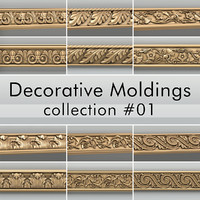 3d decorative moldings 001 model