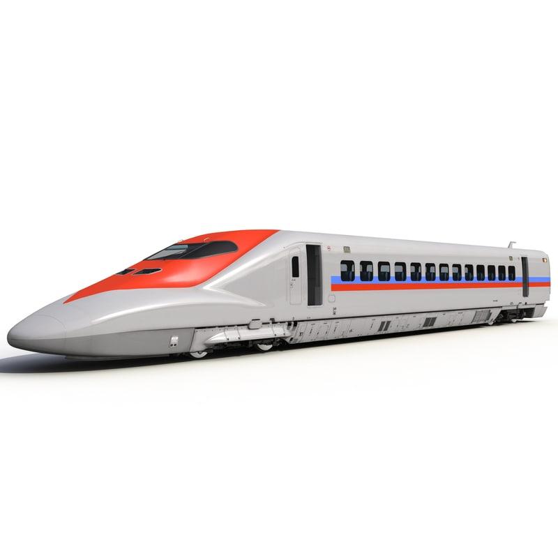 Speed Train Locomotive Generic Rigged 3dsmax vray 3d model 01.jpg