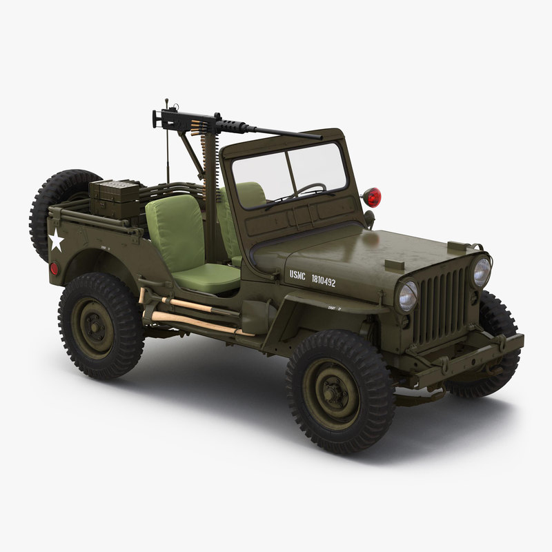 Military Jeep Car Willys M38 3dsmax vray 3d model 000.jpg