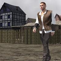 clothing m4 3d model
