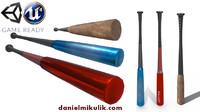 3d baseball bat pbr model