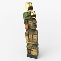 3d model wood totem